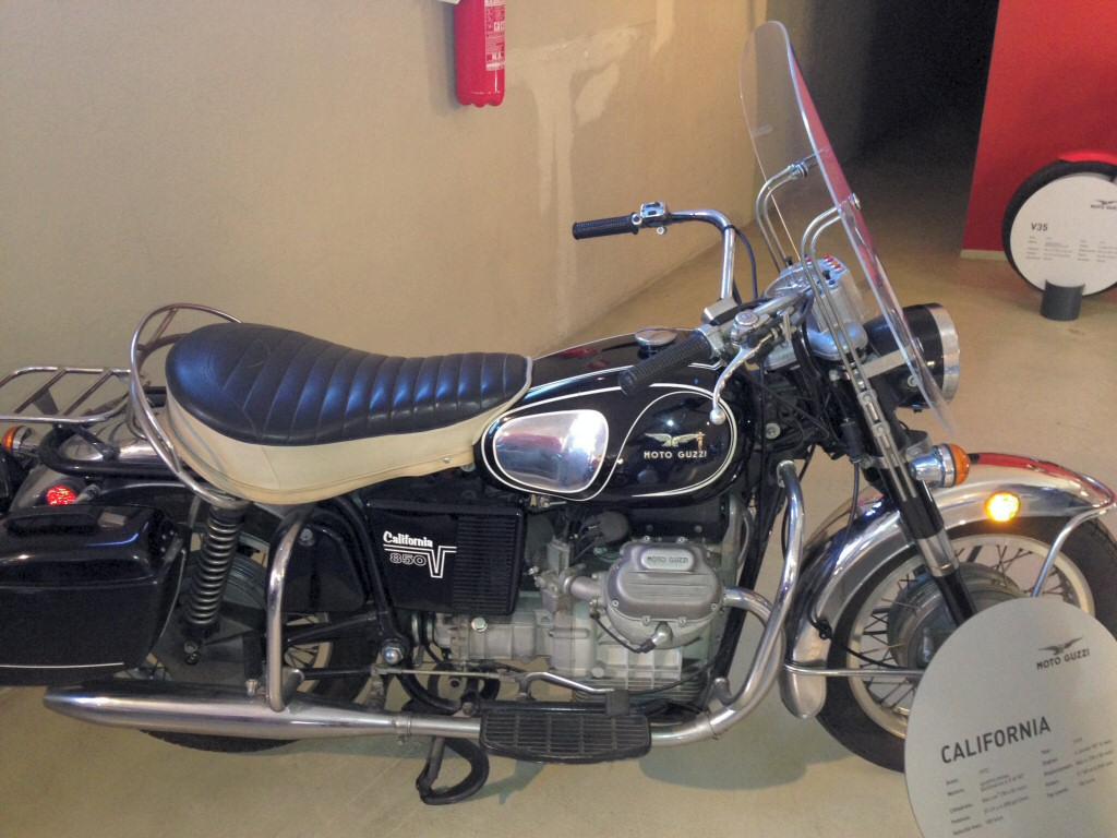 1972 Moto Guzzi 850 California Police. Photo taken at the Moto Guzzi factory museum.