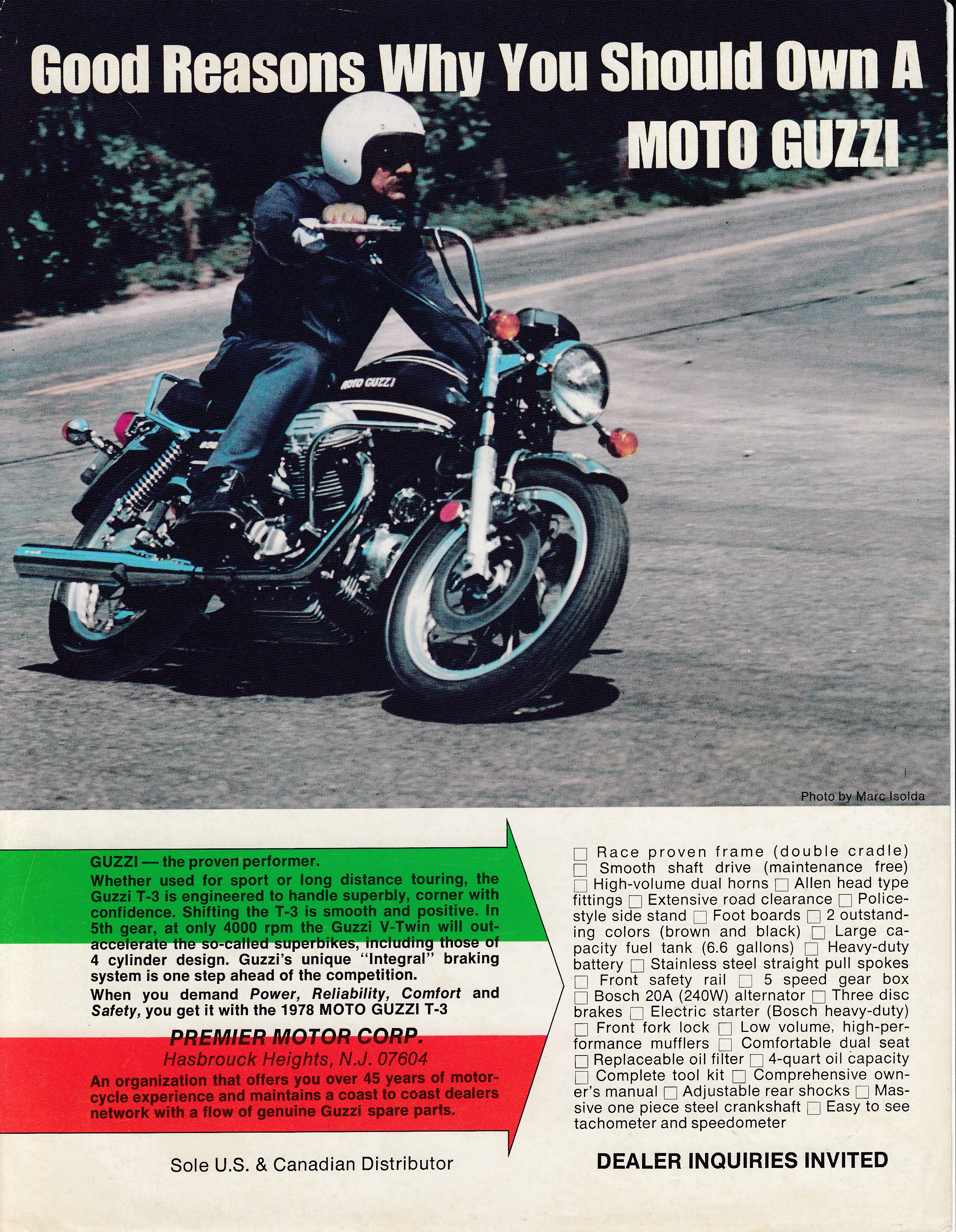 Brochure - Moto Guzzi Good reasons why you should own a Moto Guzzi
