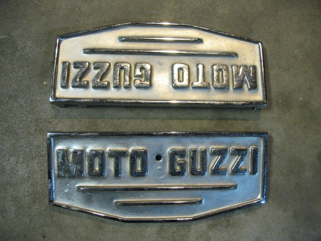 Custom footboards cast for Howard Bass for the Moto Guzzi V700, V7 Special, Ambassador, 850 GT, 850 GT California, Eldorado, 850 California Police.