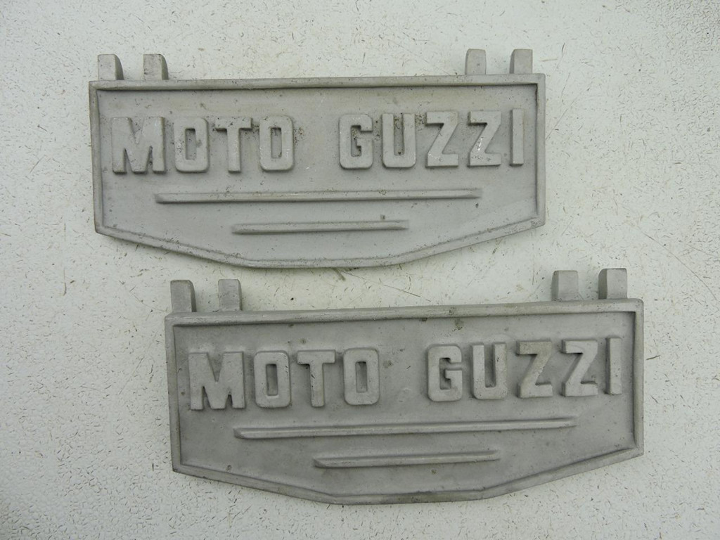 Custom footboards cast for Warren Cox for the Moto Guzzi V700, V7 Special, Ambassador, 850 GT, 850 GT California, Eldorado, 850 California Police.