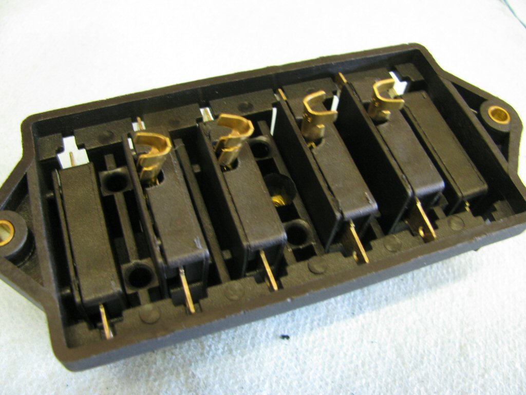 Here are all four of the fuse holders set in place for a test fitment.