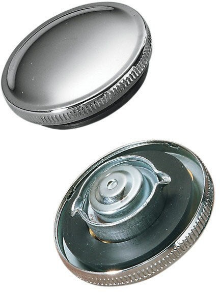 Replacement gas cap for Moto Guzzi V700, V7 Special, Ambassador, 850 GT, 850 GT California, Eldorado, 850 California Police. Fits police tank only. Drag Specialties part number DS-390130.