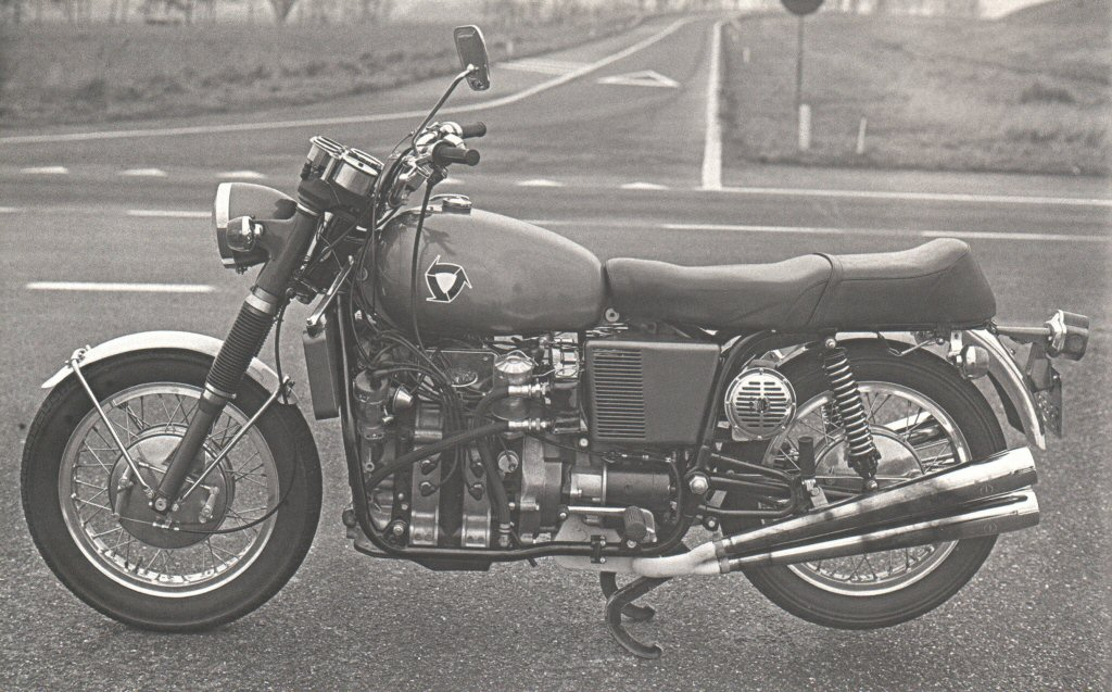 Moto Guzzi with a Wankel engine, built by Klusowski.