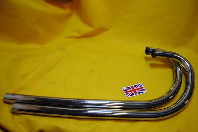 Stainless steel header pipes made by Armour Motor Products