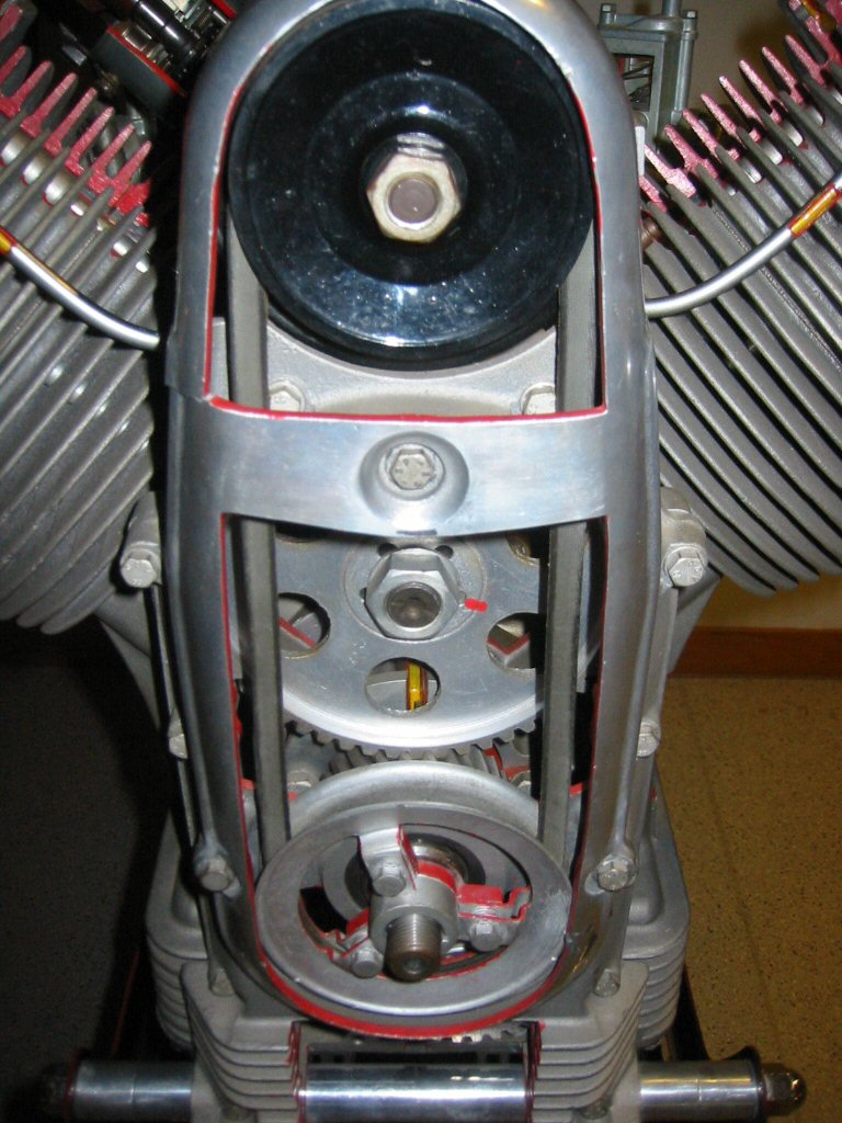 Internal cut-away images of a Moto Guzzi V700.