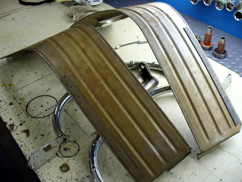 Leg shields as originally fitted to the Moto Guzzi V700.