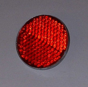 Red Lucas RER14 fender reflector.