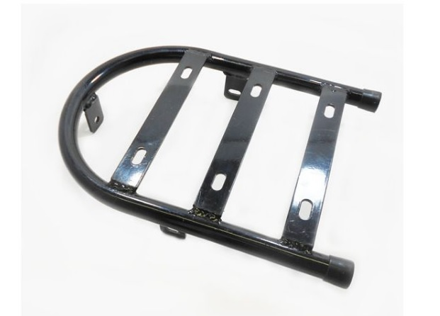 Harper's luggage rack to fit behind solo seats. Applicable to Moto Guzzi V700, V7 Special, Ambassador, 850 GT, 850 GT California, Eldorado, and 850 California Police models.