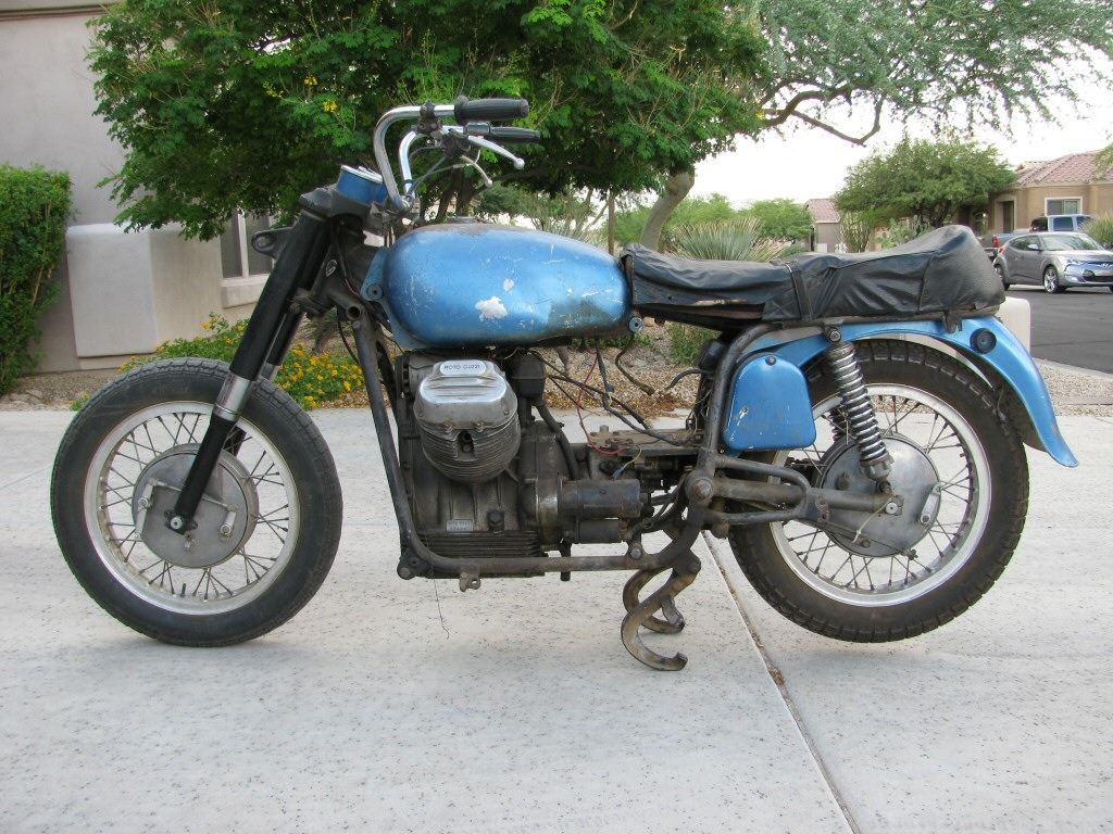 1971 Moto Guzzi Ambassador that I am restoring.