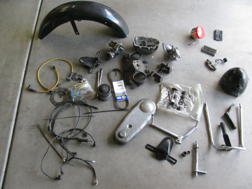 The spare parts that either came with the machine or that I've aleady sourced to replace what was missing.