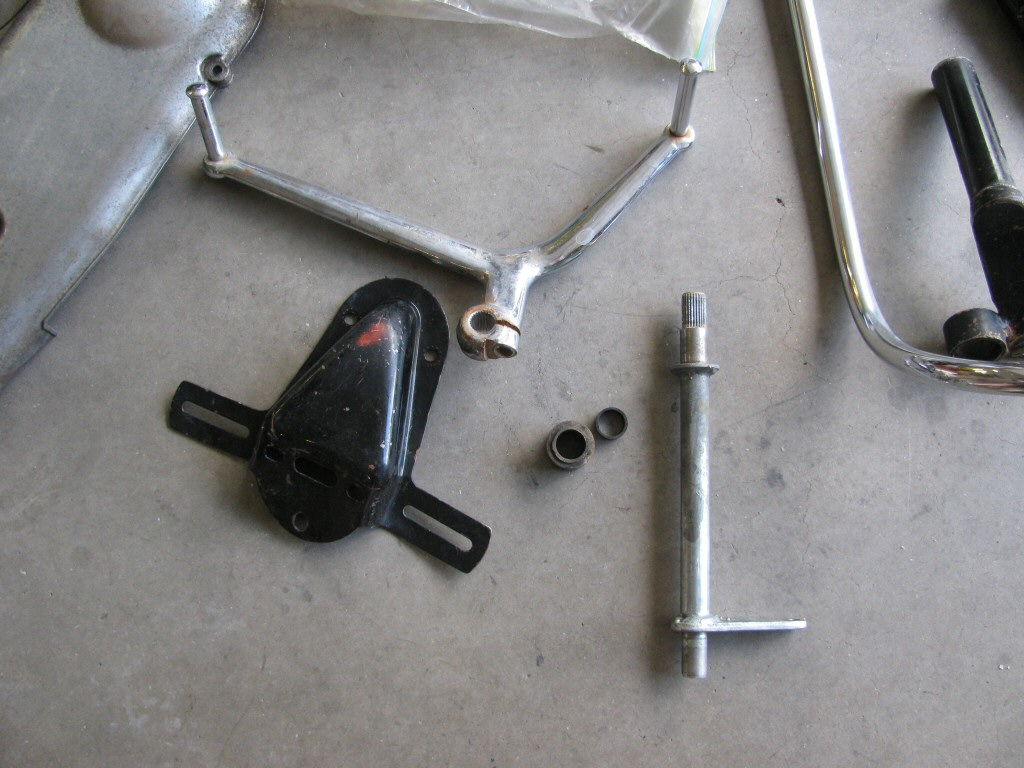 I sourced replacements the shift lever and shift shaft.