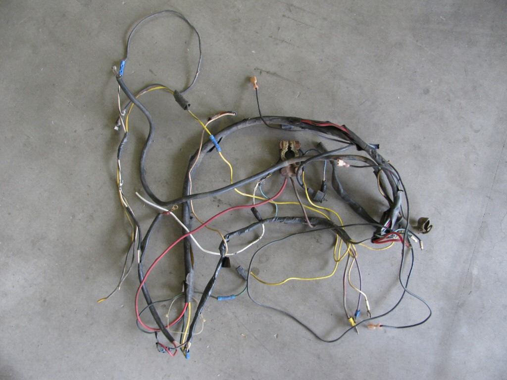 The wiring was in horrible shape. I'll be treating it to one of my own brand new wiring harnesses.