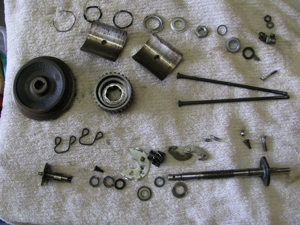Cleaned pieces and parts for the generator and distributor.
