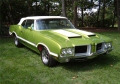 1971 Oldsmobile 442. GM Color Code 43 Lime Green (color...