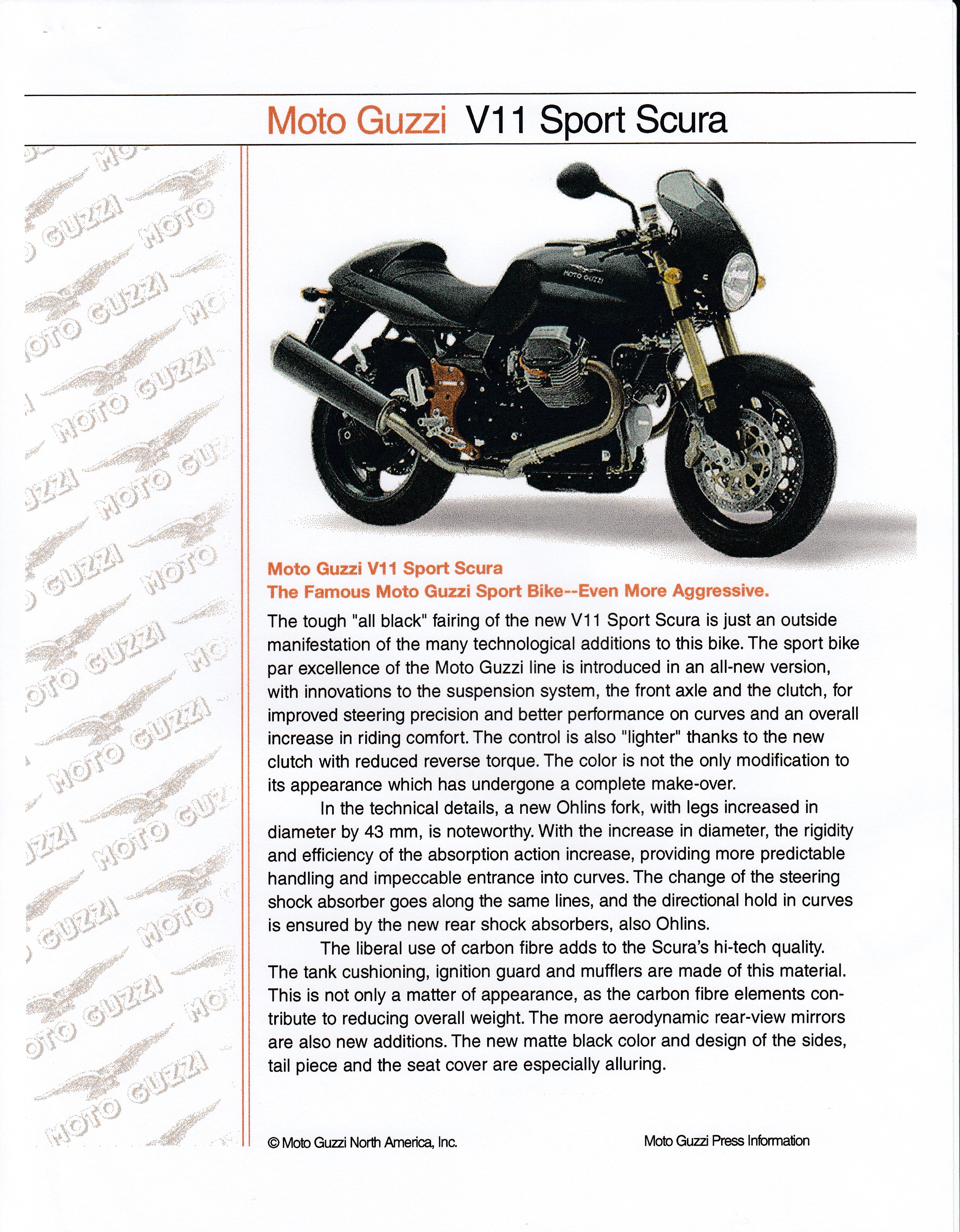 Press release - Moto Guzzi press information 2002