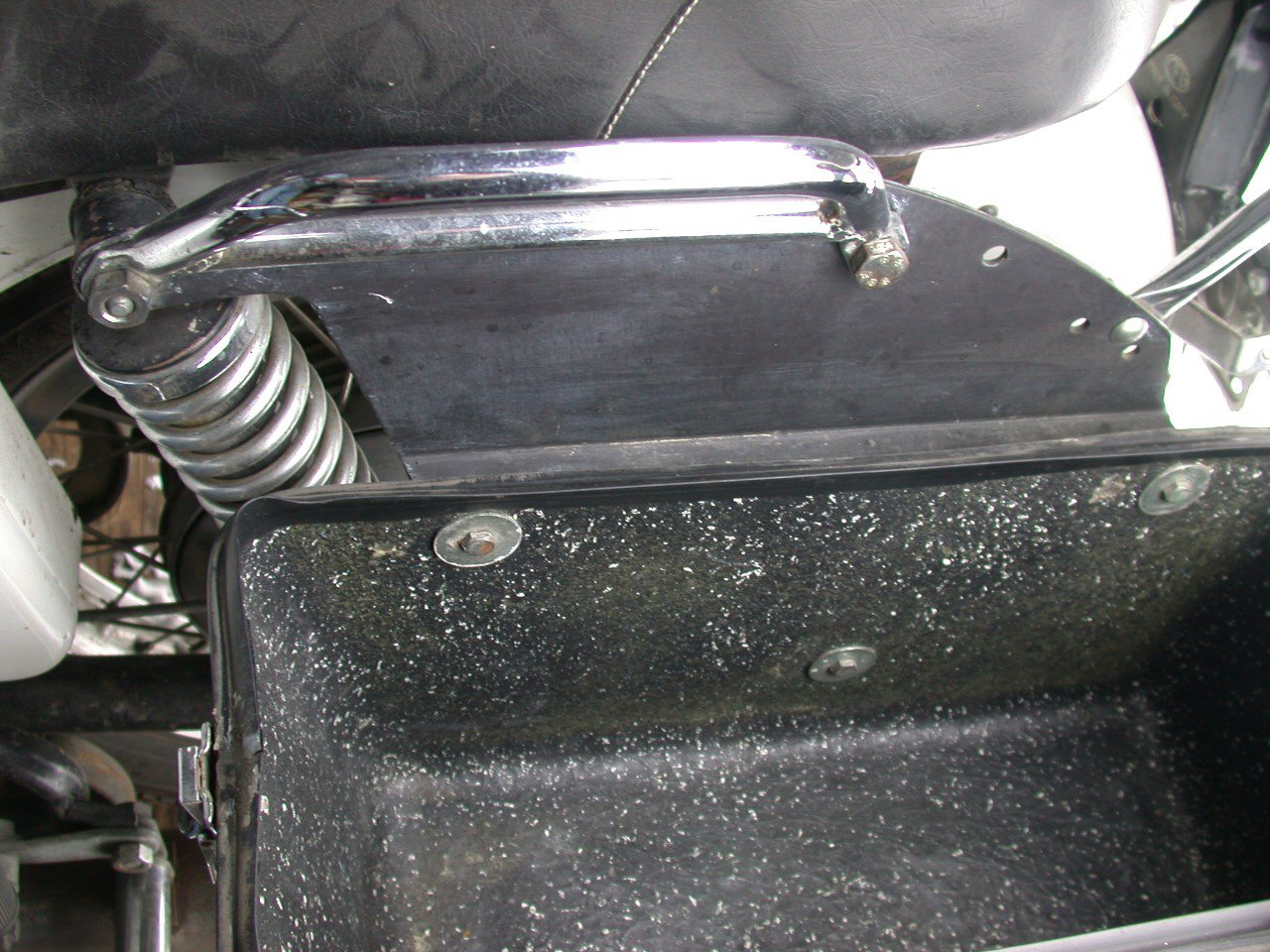 Calafia saddlebags as originally fitted to some police bikes.