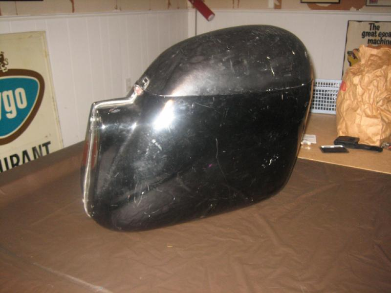DB saddlebags with the rare round-top lids.
