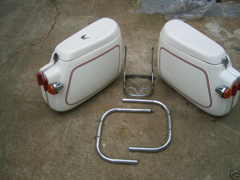 DB saddlebags with the more common flat-top lids.