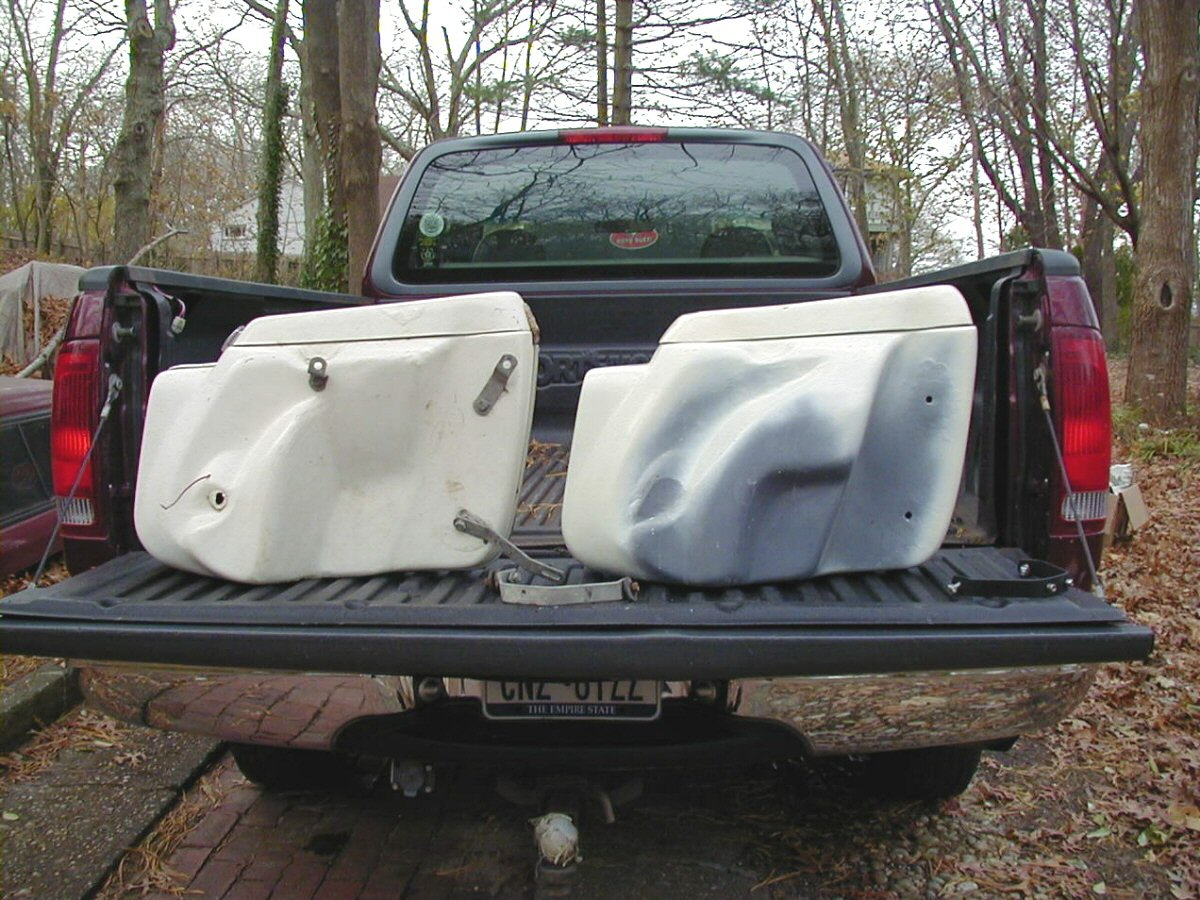 DB left side saddlebags. Tonti bag is on the left, Loop bag is on the right.
