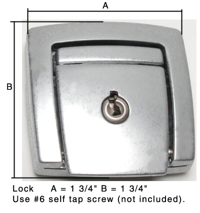 L-178 chrome latch with #2133 key for Dan Brown (DB) saddlebags