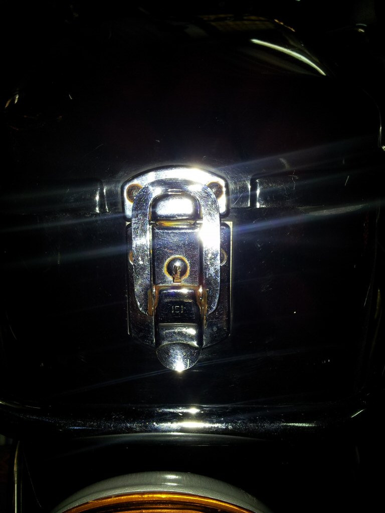 Shoei saddlebag latches.