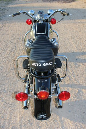 Shawn Lamb's and Jack Chew's Moto Guzzi.