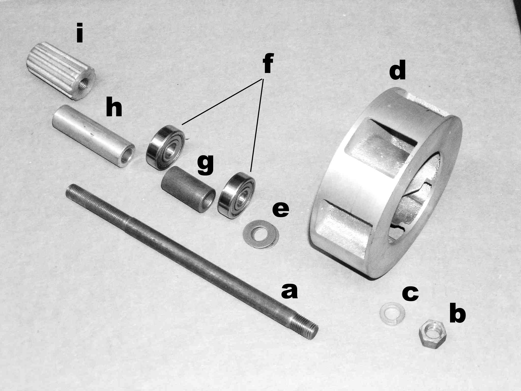 B&M Model MC Friction Drive Siren, exploded view. These sirens were mounted by some police departments on Moto Guzzi V700, V7 Special, Ambassador, 850 GT, 850 GT California, Eldorado, and 850 California Police motorcycles.