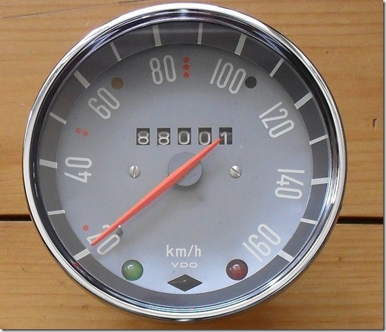 Alternative speedometer fit to Moto Guzzi V700, V7 Special, Ambassador, 850 GT, 850 GT California, Eldorado, 850 California Police models.