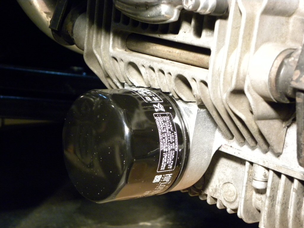 Sump extension fit to a Moto Guzzi V1000 I-Convert.