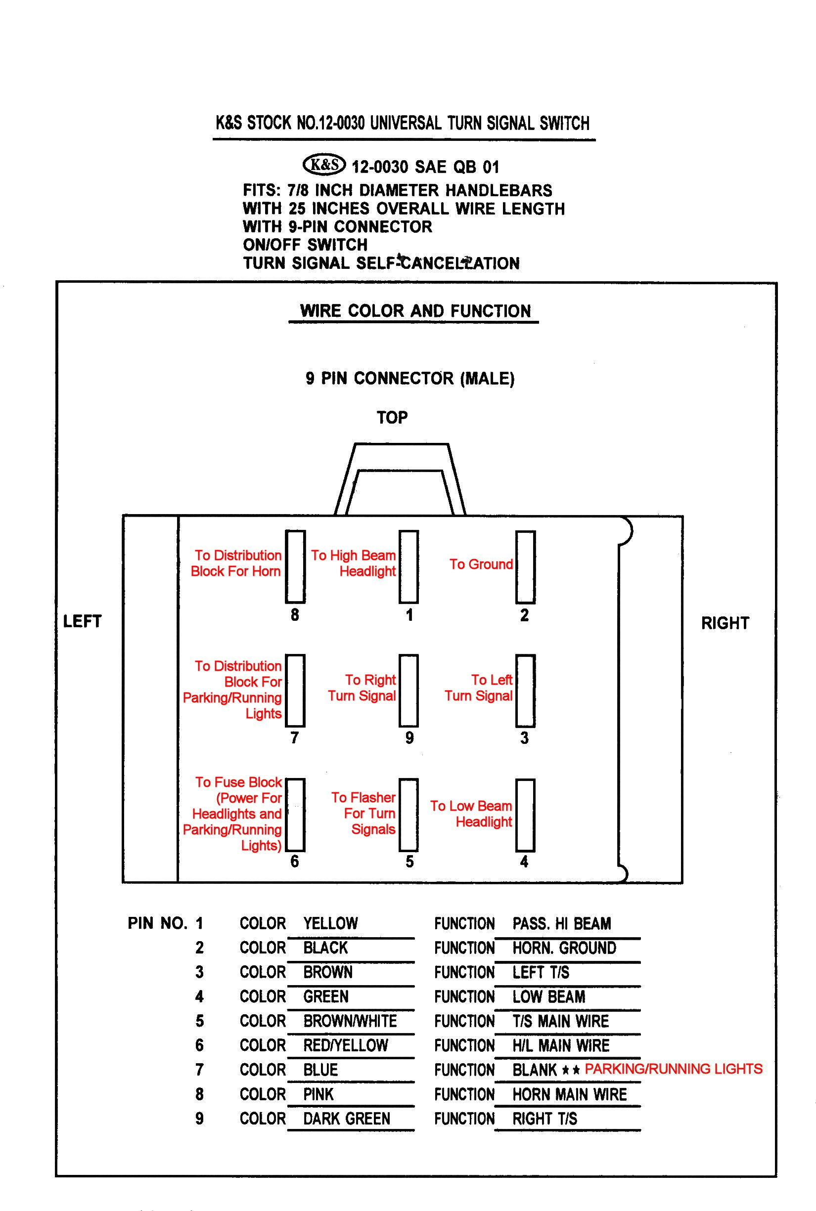 Universal Turn Signal Switch Wiring Diagram from www.thisoldtractor.com