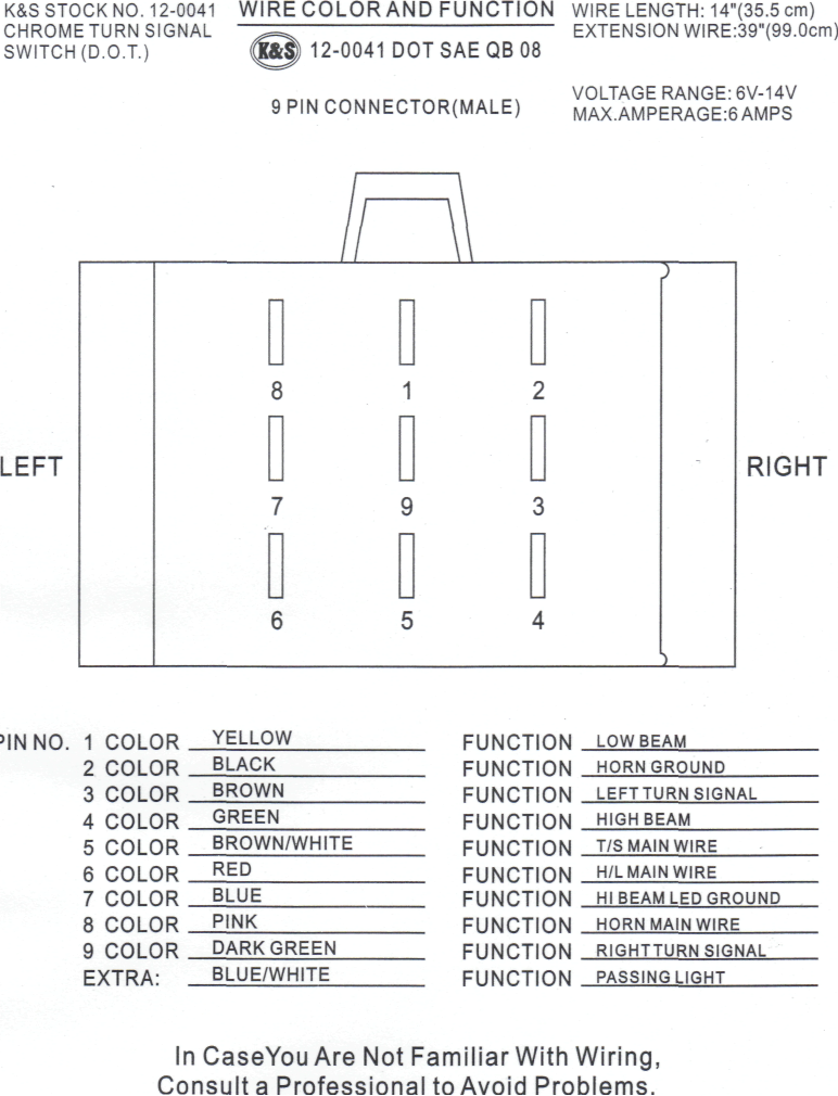 switch_ks_12-0041_back  Volt Lighted Atv Handlebar Switch Wiring Diagram on