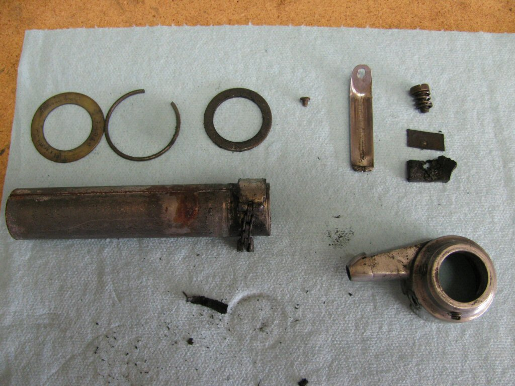 All of the parts of the throttle.