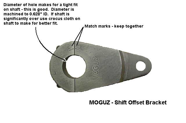 Reversing the shift pattern by using a shift offset bracket. Applicable to Moto Guzzi V700, V7 Special, Ambassador, 850 GT, 850 GT California, Eldorado, and 850 California Police models.