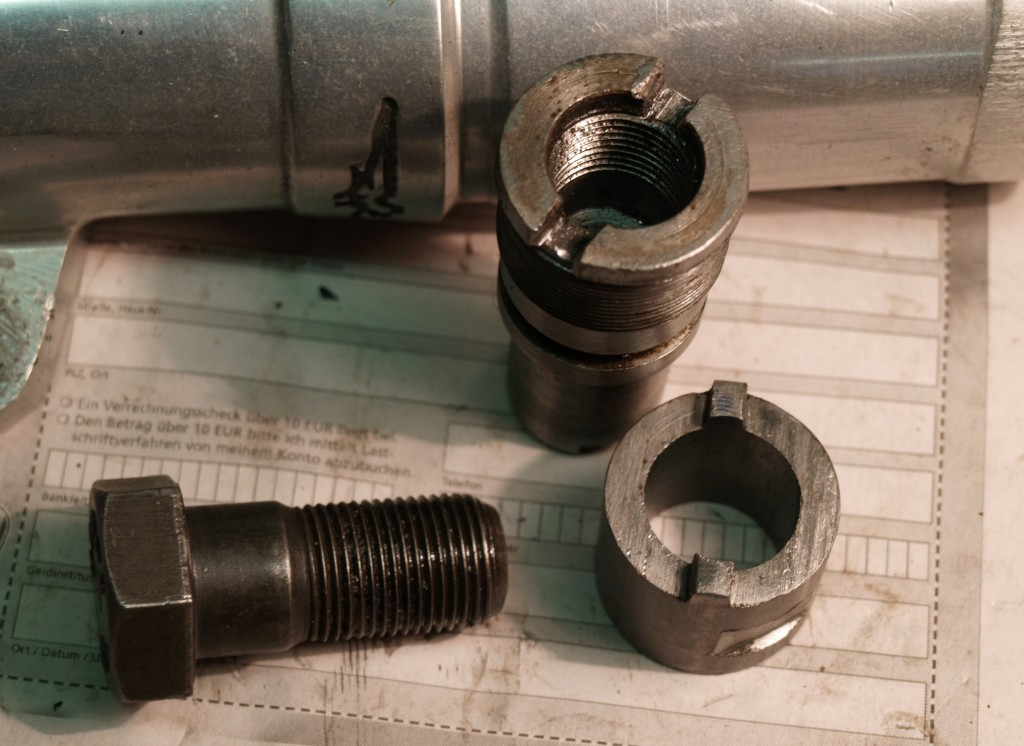 Tool for tightening the sleeve nut.
