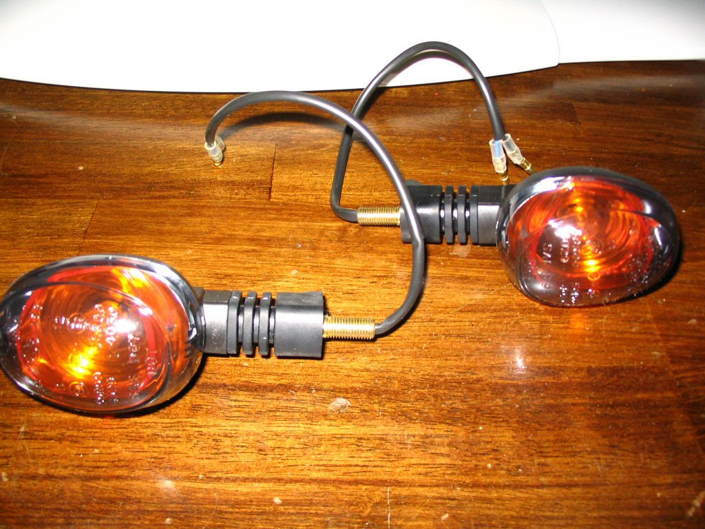 Buell turn signals for fitment on a Moto Guzzi Quota 1100 ES.