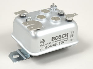 The Bosch electronic voltage regulator, part number 111903803D.