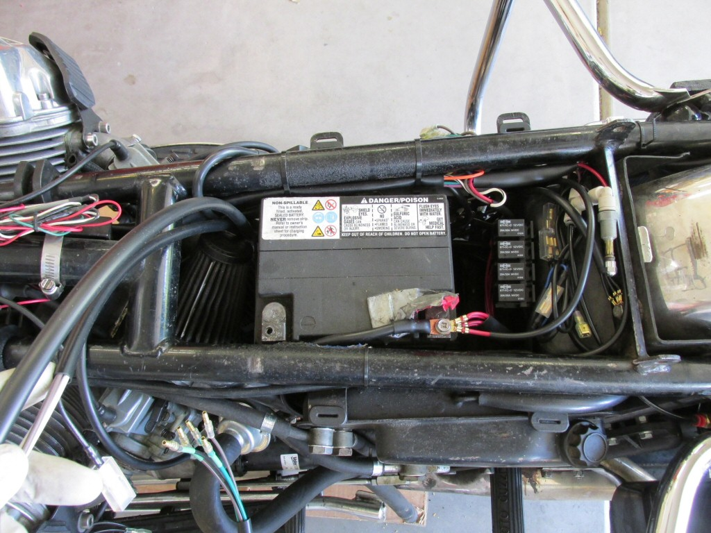 Custom 1 Wiring Harness Installation Tonti Frames Moto Guzzi Auto Photo Courtesy Of Gregory Bender