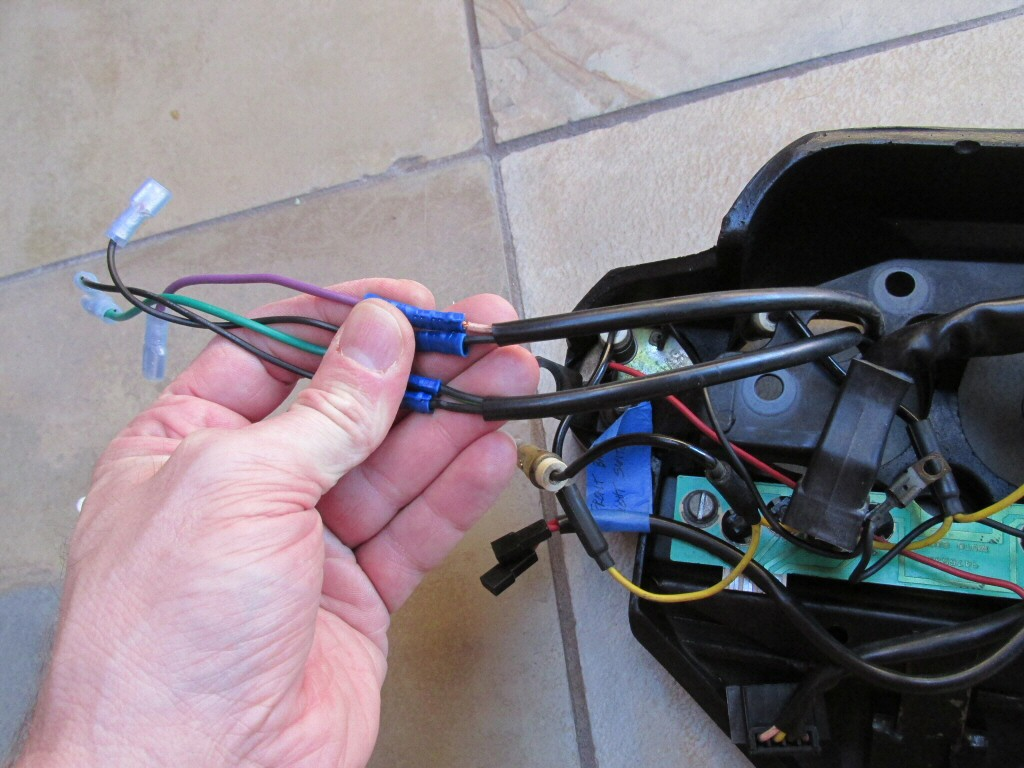Dash wiring for a Moto Guzzi Le Mans CX 100 (MG# 14747255).