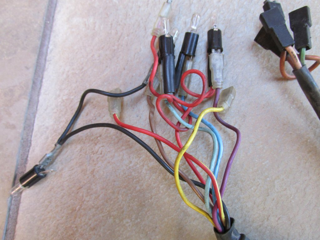 Dash wiring for a Moto Guzzi Le Mans III (MG# 28747250).