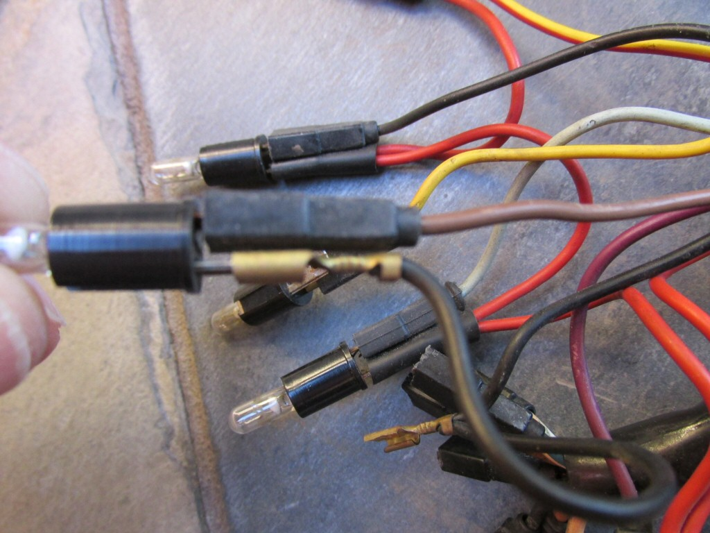 Dash wiring for a 1985 Moto Guzzi Le Mans 1000 (MG# 28747261).