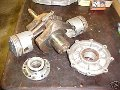 Engine crankshaft and main bearings, Moto Guzzi photo archive of parts
