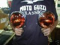 Spot lights, Moto Guzzi photo archive of parts