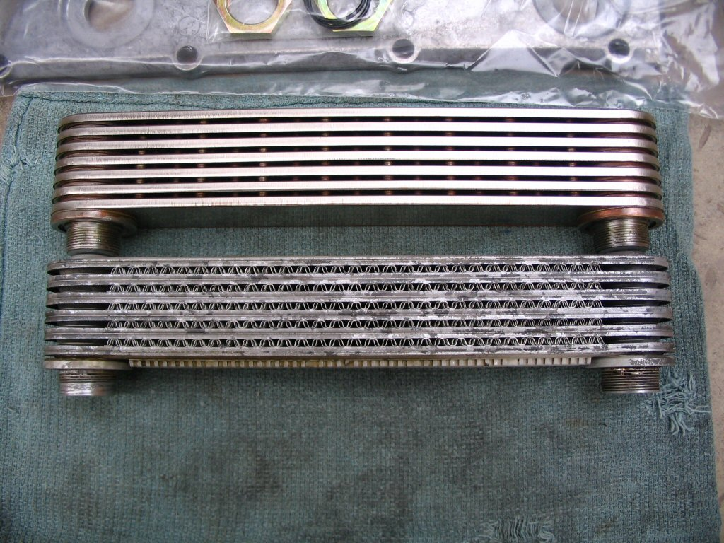 Photo Comparison Of The Oil Cooler For The Cadillac Catera