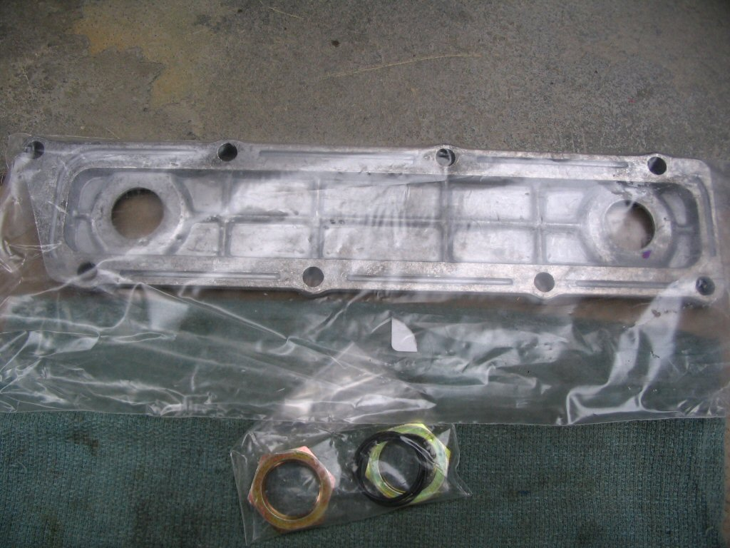 Oil cooler plate.
